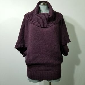 Maroon Eileen Fisher Soft Cowl Neck Short Sleeve